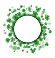 lucky spring design with shamrock clover round vector image