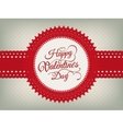 Valentines day vintage card EPS 10 vector image