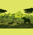 animals and wildlife green background vector image vector image