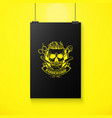 barbershop logo angry sticker with skull vector image