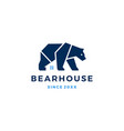 bear house logo icon vector image vector image