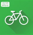 bike icon business concept bicycle vehicle vector image