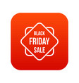 black friday sale sticker icon digital red vector image vector image