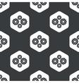 Black hexagon cogs pattern vector image
