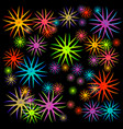 bright and colorful fireworks and salute of vector image