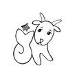 capricorn with a star above tail vector image vector image