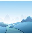 Cartoon Winter Landscape vector image vector image