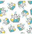 chemical test tube seamless pattern background vector image