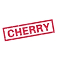 Cherry rubber stamp vector image vector image