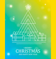 christmas and new year card pine tree and gifts vector image