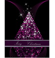 Christmas tree pink and silver vector image vector image