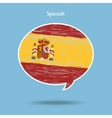 Concept of travel or studying Spanish vector image vector image