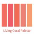 coral color palette color gradation swatch vector image vector image