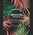 dark macro palm leaves hand-drawn design modern vector image vector image