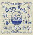 easter elements set collection vector image