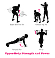 exercise physical muscle silhouette set vector image vector image