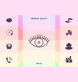 eye icon - line concept graphic elements for vector image