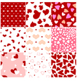 fashion heart seamless pattern vector image vector image