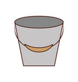 fishing bucket isolated icon vector image vector image