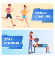 fitness banners set vector image vector image