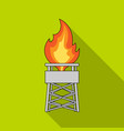 gas toweroil single icon in flat style vector image vector image