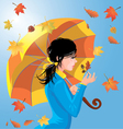 girl autumn 2 380 vector image vector image