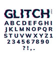 glitch font letter game digital pattern glitch vector image
