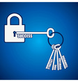 Group of keys required for open a success lock vector image vector image