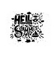 hello summer overlay vector image