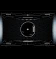 hud hi tech futuristic white elements security vector image vector image