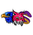 image snake lynx egle for tattoo design vector image vector image