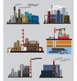 Industrial building factory vector image vector image