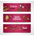 Jewelry Banners Set vector image vector image