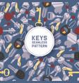 key seamless pattern house keys lock vector image vector image