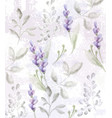 lavender pattern watercolor provence vector image vector image