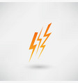 lightning icon vector image vector image