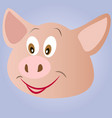 little pink piggy smiles vector image