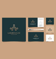 luxury home line for real estate building vector image