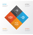 management icons set collection of arrow dinner vector image vector image