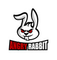modern angry rabbit logo vector image vector image