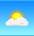 modern realistic weather icon meteorology symbol vector image