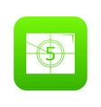 movie countdown number icon green vector image vector image