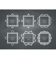 Ornamental frame set vector image vector image
