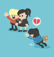 Penalty of obesity Lady not love because he vector image vector image