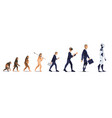 people evolution from monkey to robot vector image