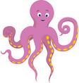 pink kind octopus vector image