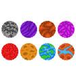 pixel art planets vector image
