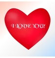 Postcard with a heart on a light background with a vector image vector image