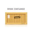 rectangular wooden industrial box mockup vector image vector image