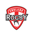 rugby ball shield england cross flag vector image vector image